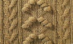 Схема вязания узора из шишечек №1
