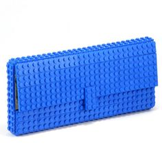 For all your geeky girls. Lego brick clutch bag made completely out of legos.