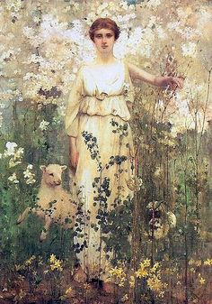 Spring, 1886 by Thomas Millie Dow (Scottish 1848-1919)