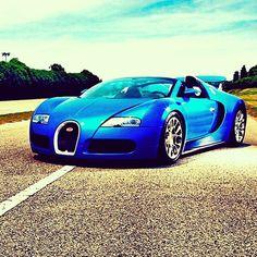 Favorite car Blue Bugatti Veyron GS