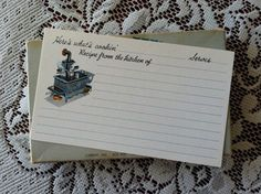 Here's What's Cookin'  Recipe Cards  lol--still using old recipes written on these cards!