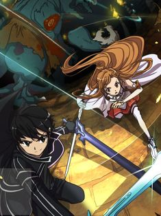 Sword art online kirito x asuna Sword Art Online Asuna, Arte Online, Online Art, I Love Anime, Awesome Anime, Manga Anime, Sao Anime, Tous Les Anime, Sailor Moon
