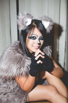 DIY sexy raccoon costume …