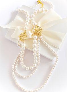 #Wedding #Pearl #Necklace