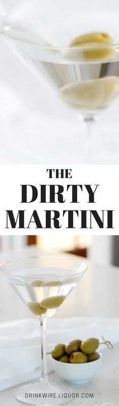 For those looking for an introduction into clear spirits, this classic is for you. Olive brine adds a salty twist to this gin (or vodka!) and vermouth favorite. #DirtyMartini