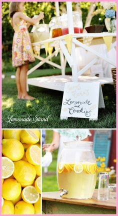 lemonade stand.  Reminds me of Heidi's stand in Texas.  What a hit!  Have to do it with Andrew.