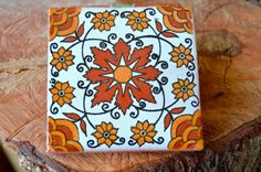 25  Mexican Talavera Tiles.Hand painted 4 X 4 by MexicanTiles