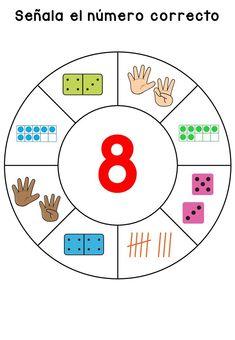 Matemáticas divertidas y manipulativas la rueda para el Reconocimiento de números -Orientacion Andujar Act Math, Math 2, Preschool Worksheets, Math Activities, Preschool Activities, Math Classroom Decorations, Sudoku, Learn Arabic Online, Math Anchor Charts