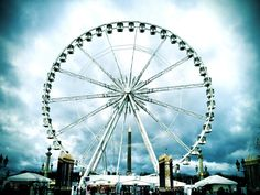 Paris ferris wheel at Tuileries Garden - excellent view from the top.