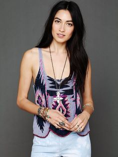 Free People Pop Color Pattern Tank http://www.freepeople.com/whats-new/pop-color-pattern-tank/