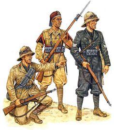 Libya, 1940-41 • Soldato, 64th Artillery Regt, 'Catanzaro' Inf Div  • Muntaz, 3rd Bn 'Nalut', 4th Group, 2nd Libyan Div  • Primo capo squadra, 231st Legion, '28 Ottobre' MVSN Div