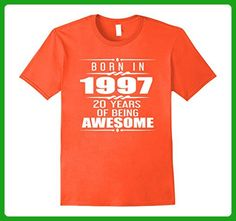 Mens Made In 1997 20th Birthday 20 Years Old Gift T-Shirt Medium Orange - Birthday shirts (*Amazon Partner-Link)