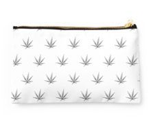 Studio Pouch - This pot leaf pattern, marijuana design is clean looking and understated, but still lets your appreciation for cannabis show.