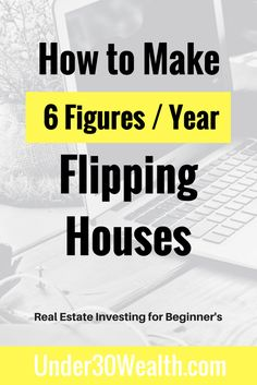 Fixing and flipping houses for beginners. Learn how I got started flipping houses at age 20 and usin Real Estate Business, Real Estate Investor, Real Estate Marketing, Marketing Guru, Real Estate Courses, Real Estate Tips, Wholesale Real Estate, Getting Into Real Estate, Investment Property