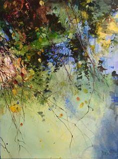"new pondscape, 48x36"" acrylic on canvas"