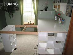 diy white craft desk