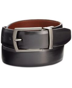 Ryan Seacrest Distinction Men's Reversible Feather-Edge Belt, Created for Macy's