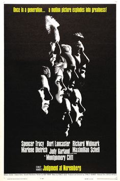 Judgement at Nuremberg | Spencer Tracy, Burt Lancaster, Richard Widmark, Marlene Dietrich, Judy Garland, Maximillian Schell, Montgomery Clift