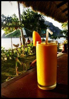 Mango shake everyone! MT ELODY BROWN: Palawan Philippines