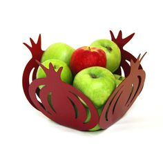 Hey, I found this really awesome Etsy listing at https://www.etsy.com/listing/72791378/pomegranate-bowl-judaica-designed-and