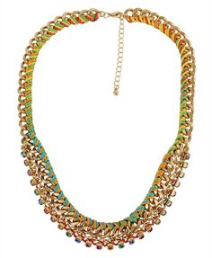 F21 woven chain necklace