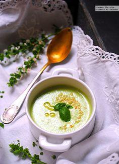 Gazpacho de pepino y albahaca. Receta express