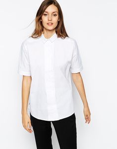 Image 1 of Warehouse Oversize Pleat Front Shirt