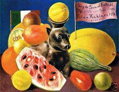 Still Life, Naturaleza Muerta, Frida Kahlo for Dr. Samuel Fastlich. 1951