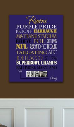 Baltimore Ravens Standout by SportingStandouts on Etsy