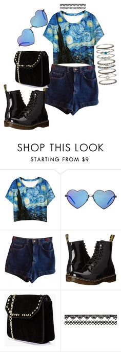 """""""F***ing Van Gogh"""" by sadgirl97 on Polyvore featuring Chicnova Fashion, Wildfox, American Apparel, Dr. Martens, Boohoo y Accessorize"""