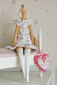Купить Комплект Тильда Принцесска с сердцем - розовый, тильда, тильда кукла, тильда принцесса