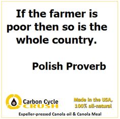 If the farmer is poor then so is the whole country. Polish Proverb, Polish Words, African Proverb, Proverbs Quotes, Piece Of Me, Inspirational Thoughts, People Quotes, How To Know, Beautiful Words