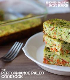 Smoked Salmon Egg Bake from The Performance Paleo Cookbook | stupideasypaleo.com #paleo #athlete #realfood #performancepaleo