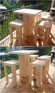 Stepping up to the next option we would talk about the wood pallet table and stools that is so trendy and fashionable looking on the whole of it. You can make the perfect use of this wood pallet idea in your bar counter home areas. It is much simple and quite fascinating looking on the whole.