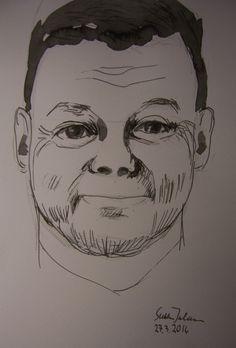 Jari Sillanpää drawing by Sirkka Jalava