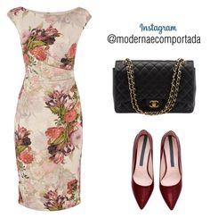 """Instagram - @modernaecomportada"" by gessilene-ferreira on Polyvore featuring moda, Adrianna Papell, Chanel e modern"