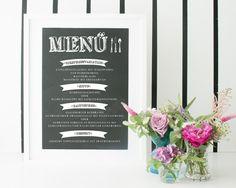 Chalkboard Poster (A3) für die Hochzeit, online bestellbar unter www.papierhimmel.com