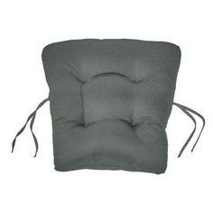 Cushion Source 18 x 20 in. Solid Sunbrella Chair Back Cushion Charcoal - 9DXZS-54048