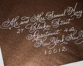 Calligraphy Wedding Envelope Addressing, Discount Wedding Special, Flourished Spencerian