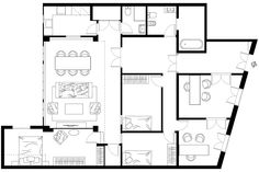 Interior design floor plan