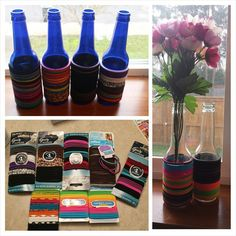 Bottle Hair Tie Holder!! Perfect for up-cycling bottles and storing hair tie holders.