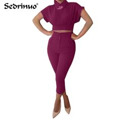Nuevo Estilo de Moda de Verano corp top cuello de la Camisa de Los Mamelucos Ocasionales Buzos Womens Sportswear 2 unidades Mono de Envío Libre