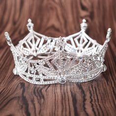 Wedding Prom Bridal Crown Rhinestone Crystal Decor Headband Veil Tiara  Headband Hair a14be3b71264
