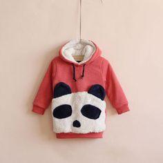 2012 autumn and winter new Korean Korean Girls the cute panda sherpa thickened long hooded sweater jacket - Taobao