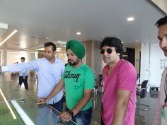 Ghuggi's visit to Royal Citi- Motia Developers Pvt. Ltd.