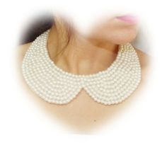 Accessories Ivory Pearl Collar Necklace Peter Pan by medusa12, $25.00