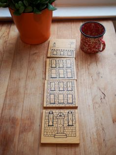 Drinks on the House - Row home drink coasters by YardsalePress