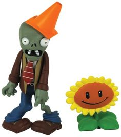 Plants vs Zombies Figures 3'' Conehead Zombie with Sunflower Plants vs Zombies http://smile.amazon.com/dp/B00A8E5GFM/ref=cm_sw_r_pi_dp_hfy1ub09AAYVE