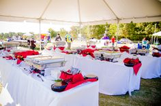 Walk4Hearing - Wake Med Soccer Park Cary NC - Special Event Catering - Lunch Buffet - Corporate Setting For Large Event