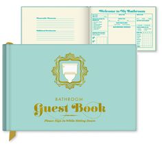 BATHROOM GUEST BOOK from Perpetual Kid